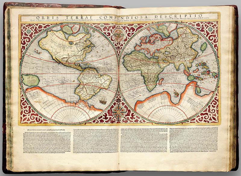 На карте Меркатора отмечены реки и долины, спрятанные под антарктическим льдом